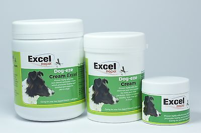 Excel Repel Dog-Eze Cream - Itchy Skin - kills lice / mites - skincare - eczema