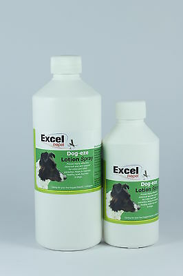 Excel Repel Dog-eze Lotion Spray - Itchy Skin - kills lice / mites - skincare -