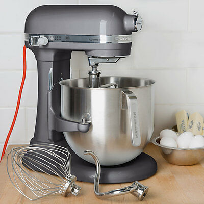 KitchenAid KSM8990DP Pewter NSF 8 Qt. Bowl Lift Commercial Countertop Mixer