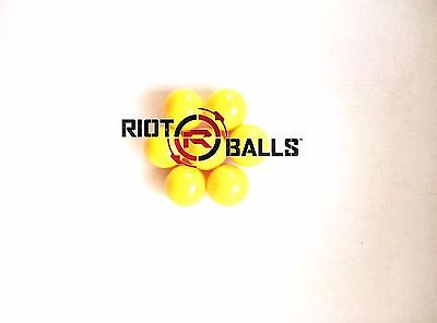 500 X 0.43 Cal. Riot Balls Self Defense Less Lethal Practice Paintballs Yellow