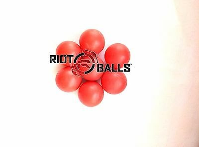 500 X 0.50 Cal. Riot Balls Self Defense Less Lethal Practice Paintballs Red