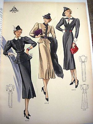 "Art Deco ""Chic Parisien"" Apr.1937  No.463 Imported Fashion Book  *"