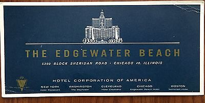 Vintage Edgewater Beach Hotel Ink Blotter Chicago Illinois The Natural