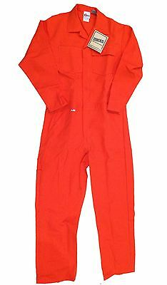 Indura Unlined FR Flame Resistant Coverall Orange Work Uniform CO11 50 / 2XL