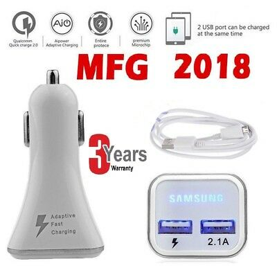 Samsung Galaxy S7 Edge In Car Fast Charge Car Charger & Fast Charge USb Cable UK