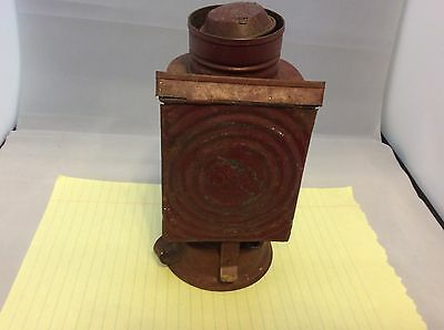 Antique Vintage Kodak Dark Room Kerosene Lantern / Vintage Camera Lamp Lantern