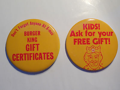 Burger King Promo Buttons BKC 1979