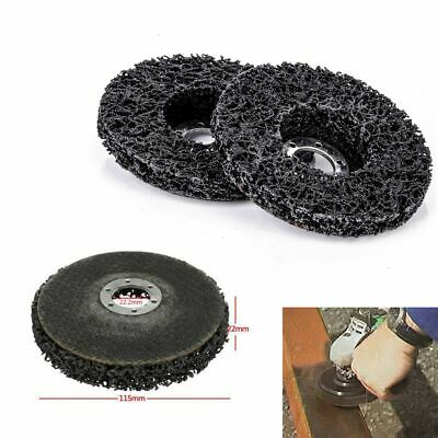 2pcs 115x22mm Rust Paint Remover Abrasive Poly Strip Disc Wheel Angle Grinder