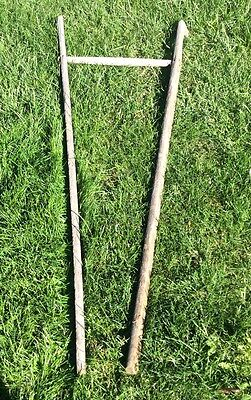 Antique Primitive Wood Handle For Farm Tool Or Cart