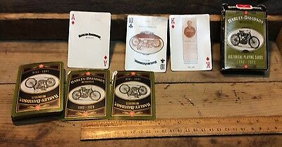 Vintage 1997  Harley Davidson Playing Cards Motorcycles 1903-1929