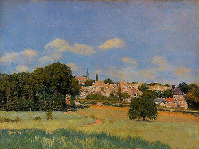 Oil painting Alfred Sisley - View of St. Cloud - Sunshine nice landscape canvas