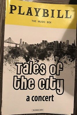 Tales Of The City Concert Playbill Broadway Armistead Maupin