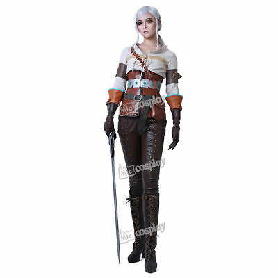 The Witcher 3: Wild Hunt Ciri Cosplay Costume Anime Women Outfit