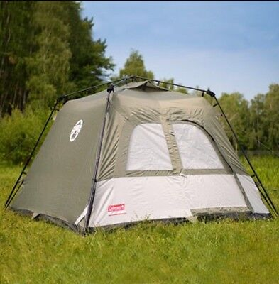 Coleman Instant Tourer 4 Person Tent Camping UV Protection Pitch in One Minute