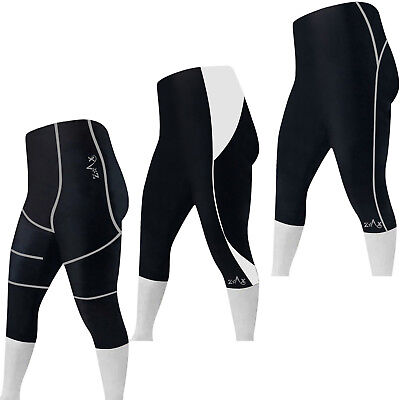 Cycling Tights 3/4 Shorts Padded Cycle Trousers Leggings Shorts S to XXL