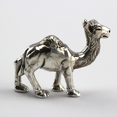 Collectable Victorian Style Standing Camel Figurine 925 Sterling Silver