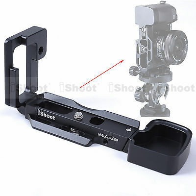 L-shaped Vertical Quick Release Plate Camera Grip Holder Bracket for Sony a6300