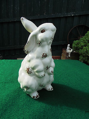 LARGE VINTAGE POTTERY EASTER BUNNY RABBIT OR GARDEN ORNAMENT 24cm