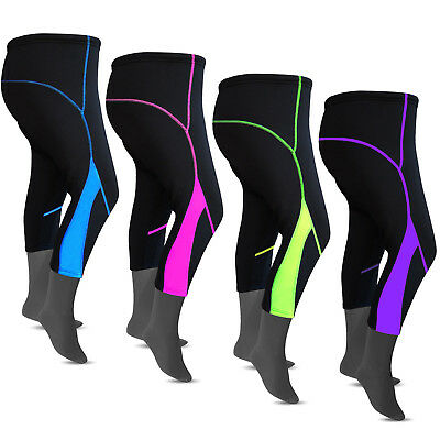 Ladies Cycling Tights 3/4 Padded Winter Cycle Trousers Pants Bicycle ANTI-BAC