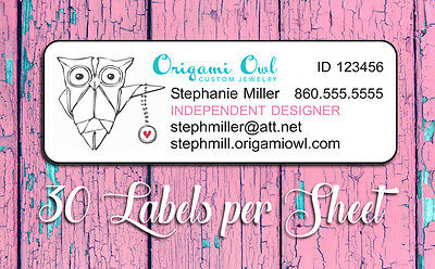 Personalized ORIGAMI OWL Independent Designer Catalog Labels or Address Labels