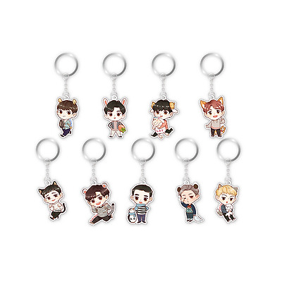 2017 New Kpop EXO 5th anniversary Q edition Acrylic Key Ring Keychain