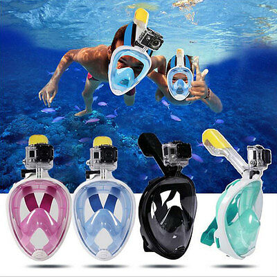 S/M L/XL Swimming Diving Breath Full Face Mask Snorkeling For GoPro 2017