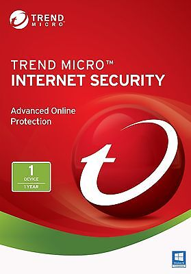 TREND MICRO iNTERNET sECURITY 12/2018 2019 - 1AN/YEAR  1PC/USER(ALL LANGUAGES)