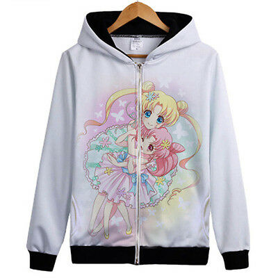 Sailor Moon Tsukino Usagi Small Lady Serenity Hoodie Kapuze Sweatshirt Pullover