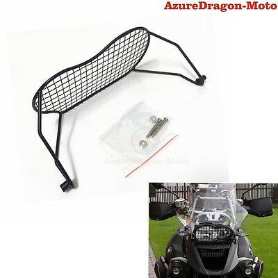 Black Headlight Mesh Guard Protector Grill Cover For BMW R1200GS 05-12 2005-2012