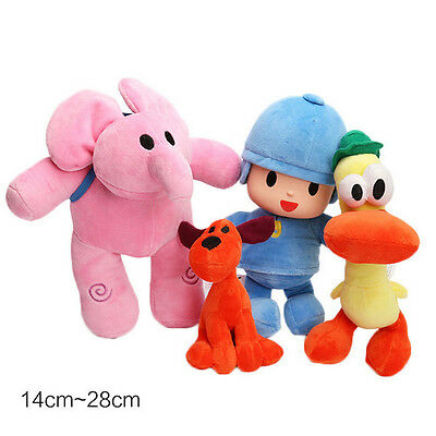 Babe Bandai Pocoyo Elly Pato Loula Figure Plush Soft Doll Kid Stuffed Toy Set