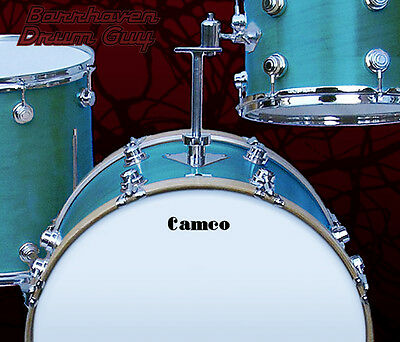 Camco, Vintage, Repro Logo (#4) - Adhesive Vinyl Decal, for Bass Drum Reso Head