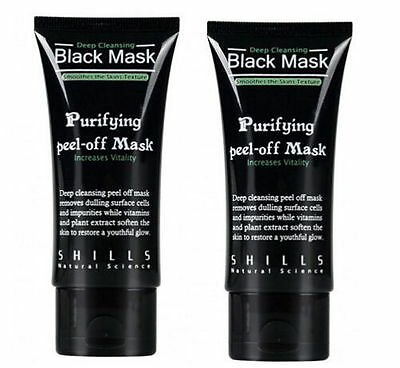 2x blackhead Remover Deep Cleansing purifying acne black mud face mask#GE