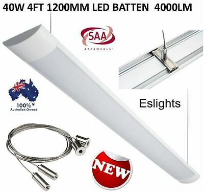 40W 4Ft 1200Mm Led Batten 4000Lm Blade Light With Suspended Ceiling Fixing Kit