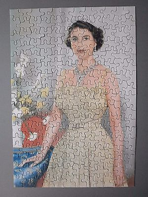Early 1950's Tower Press Jigsaw Young Queen Elizabeth Ii