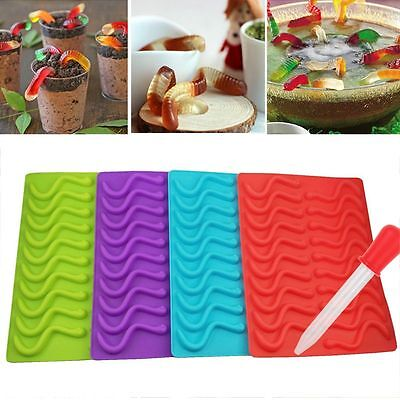 20 Chocolate Jelly Candy Ice Tray Silicone Maker Gelatin Gummy DIY Molds Mould