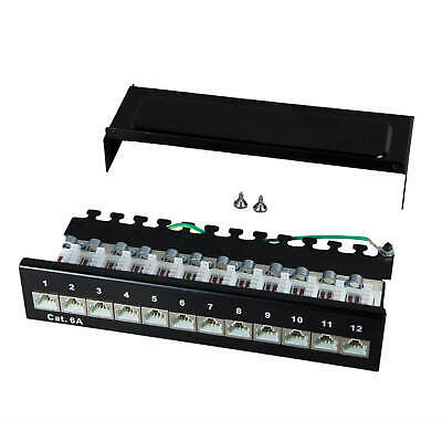 Patch panel Cat.6A 500MHz 12 Port shielded Desktop Surface-mounted installation