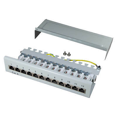 Patch panel Cat.6 250MHz 12 Port shielded Desktop Surface-mounted installation