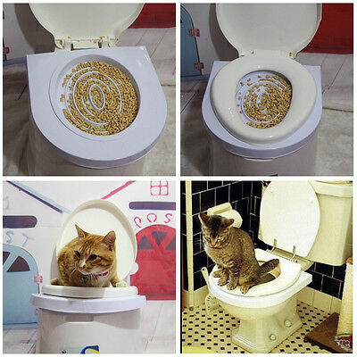 Cat Toilet Training Kit Kitten Plastic Mat Pet Supplies Behavior Litter Box Dog