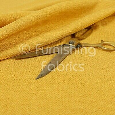 New Modern Quality Woven Plain Yellow Upholstery Furnishing Curtains Fabric