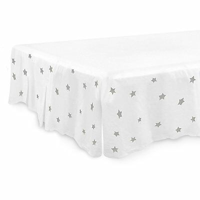CONEY ISLAND COTTON Crib Bed Skirt Dust Ruffle SOFT Jersey Cute Best Baby Shower