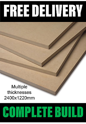 MDF Sheets - Medium Density Fibreboard 2440x1220 - Various Sizes 6mm 9mm 12mm 18