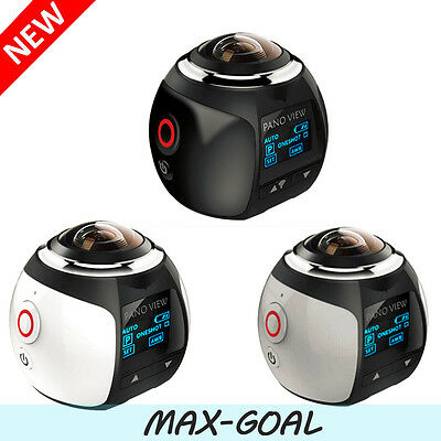 4K 360 Degree DV Action Camera Waterproof Panoramic 2448*2448 WIFI 16MP USA MAX