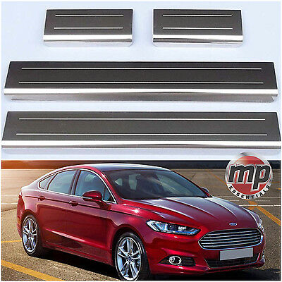 Lockwood Ford Mondeo 14> Stainless Steel Kick Plate Car Door Sill Protectors 4pc