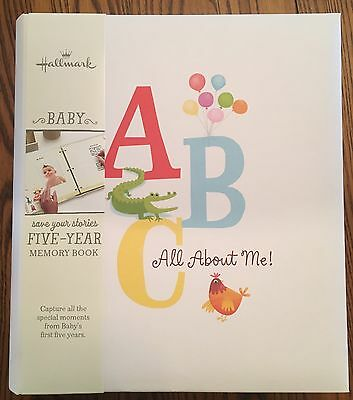 New Hallmark Retro Alphabet 5 Year Memory / Baby Book Five Year Retail $39.95
