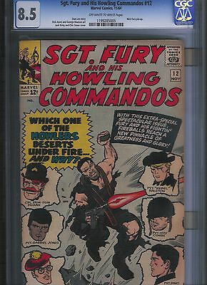 Sgt Fury # 12 CGC 8.5  Off White to White Pages. UnRestored