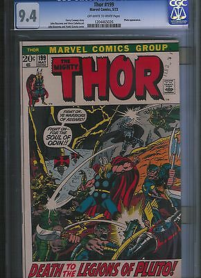 Thor # 199 CGC 9.4 Off White to White Pages. UnRestored