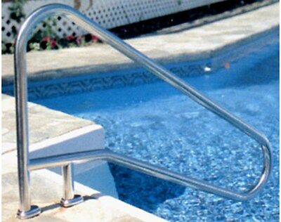 S.R. Smith DMS-102A 3-Bend Stainless Steel Deck Mounted Braced Pool Handrail