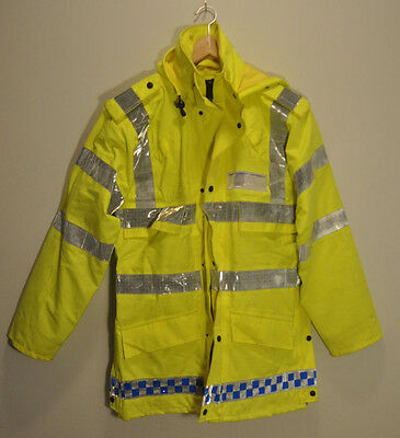 British Police High-Visibility Gortex Anorak Jacket Water Proof Medium & Small