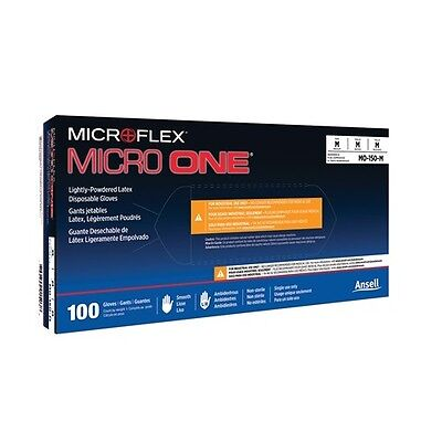 10 Boxes Microflex MO-150L Micro One Light Powder Latex Gloves Large
