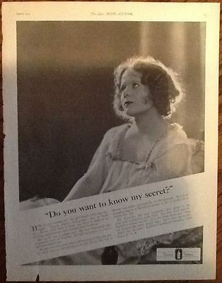 Listerine portrait ad 1924 originl vintage 1920s flapper woman fashion photo art